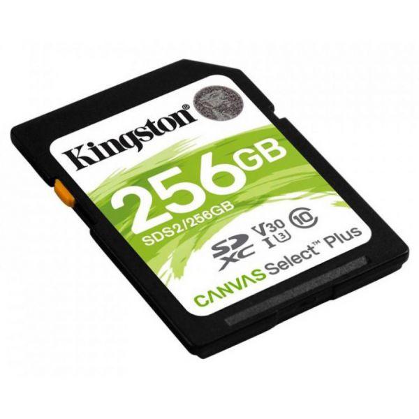 Карта пам'яті SDXC Kingston Canvas Select Plus 256GB С10 UHS-I U3 (SDS2/256GB)